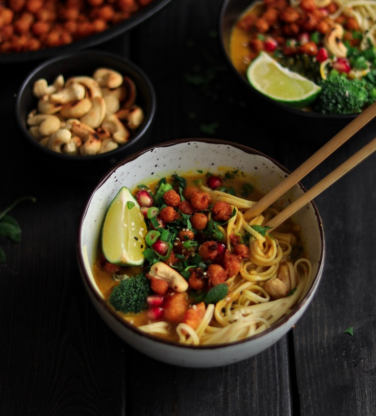 thai pumpkin laksa