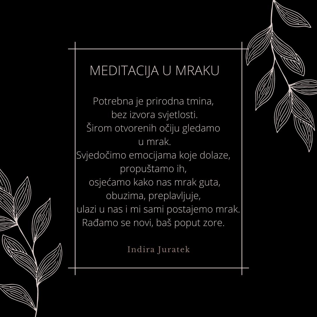 meditacija u mraku