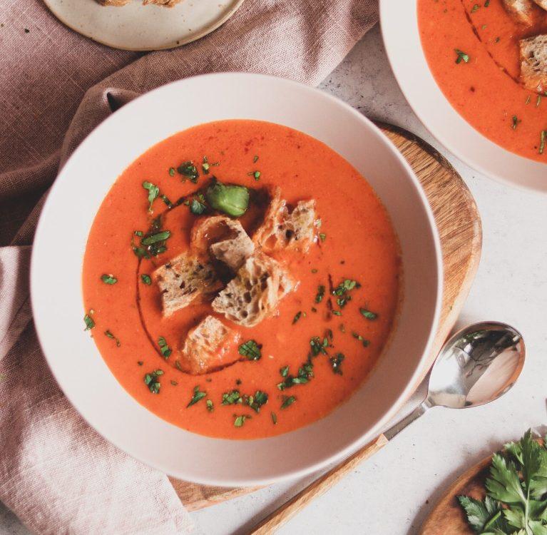 juha od pečene paprike
